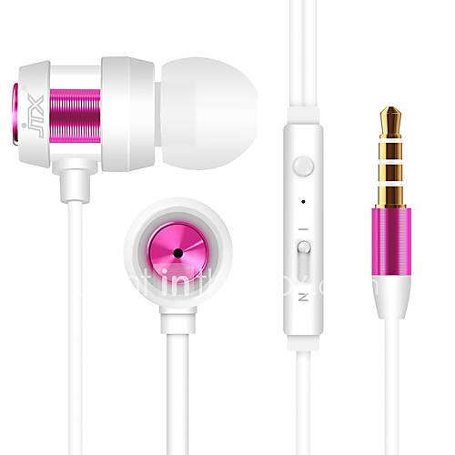 JTX-702 3.5mm antibruit mike dans l'oreille des écouteurs pour l'iPhone et d'autres téléphones (couleurs assorties)