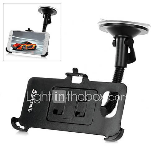 Mini smile™ Car Suction Cup Mounted Flexible Neck Phone Holder for Samsung Galaxy S6 / G9200