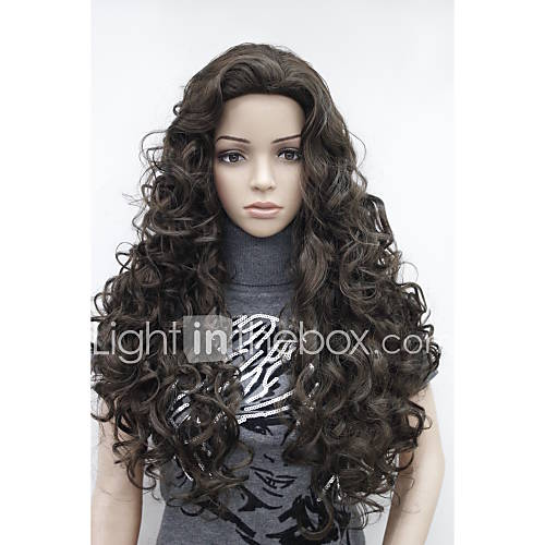 New Fashion Brown Long Curly Wonen's Full wig