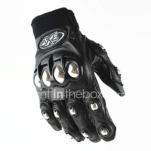 Hot Cool Rider Leather Motorcycle Gloves Motorcross Leather Racing Cycling Bike Breathable Driving Full Finger Glove