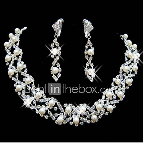 Women's Jewelry Set Cute Party Bridal Fashion Wedding Party Special Occasion Anniversary Birthday Engagement Gift Pearl Imitation Pearl