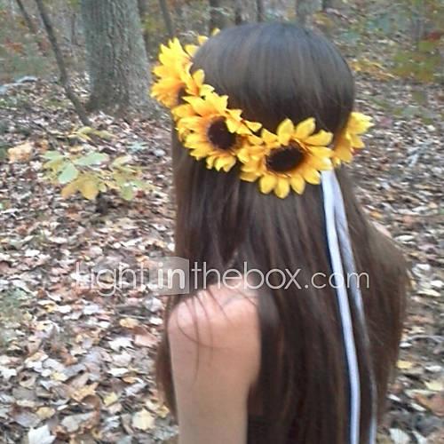 Sunflower Crown Big Sunflower Headband  Sunflower Halo Sunflower Hair wreath Sunflower Headpiece Fall Flower crow