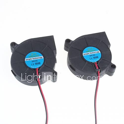 5Cm Blower / Humidifier Centrifugal Fan - Black Color (2Pcs)