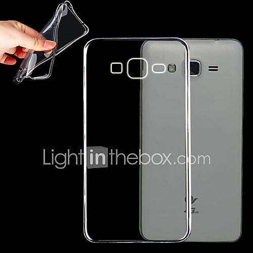 Case For Samsung Galaxy Samsung Galaxy Case Transparent Back Cover Solid Color TPU for Grand Prime