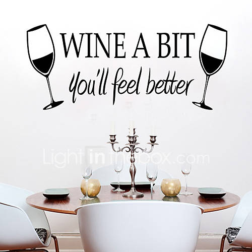 Wall Stickers Wall Decals Style The New Wine Cup PVC Wall Stickers