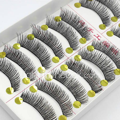 10 Pairs High Quality Natural Long Black False Eyelashes Handmade Soft Thick Fake Lashes Makeup Eyelashes Extensions