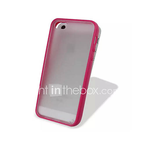 TPU Colorful Frame and PC Matting Transparent Slim Back Cover for iPhone 5C(Assorted Colors)