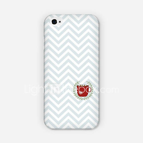 Creasing Cups Pattern PC phone Case Back Cover for iPhone 6 Plus Case