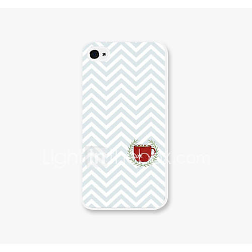 Red Cup Creasing Pattern PC Phone Case Back Cover for iPhone4/4S Case