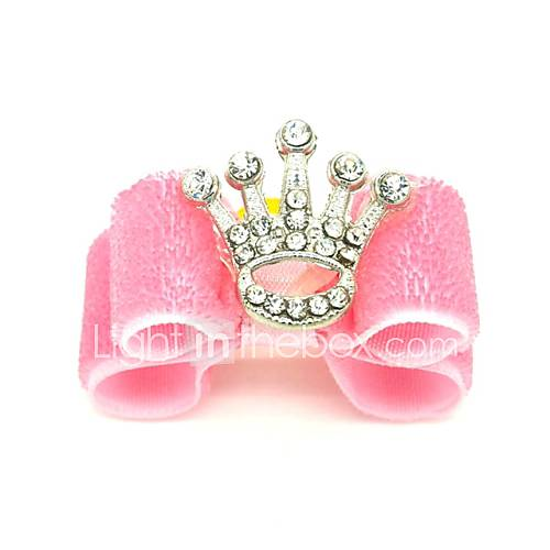 Cat Dog Hair Accessories Hair Bow Dog Clothes Tiaras  Crowns Pink Mixed Material Costume For Pets Women's Holiday Birthday