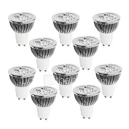 4W GU10 Focos LED 4 LED de Alta Potencia 320 lm Blanco Cálido / Blanco Fresco / Blanco Natural Regulable AC 100-240 V 10 piezas