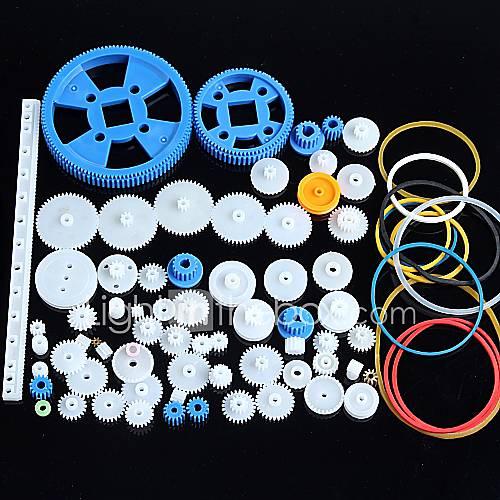 80 tipos de engranaje del motor de engranajes paquete de la caja de cambios Kit de accesorios de robots de plástico Descuento en Miniinthebox