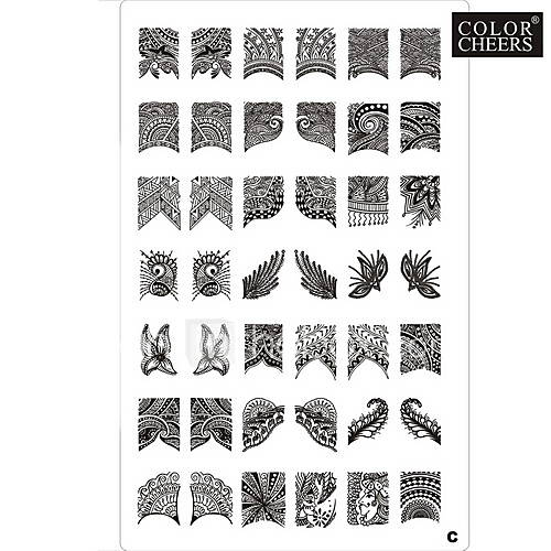 42 Pattern Nail Art Stamp ...