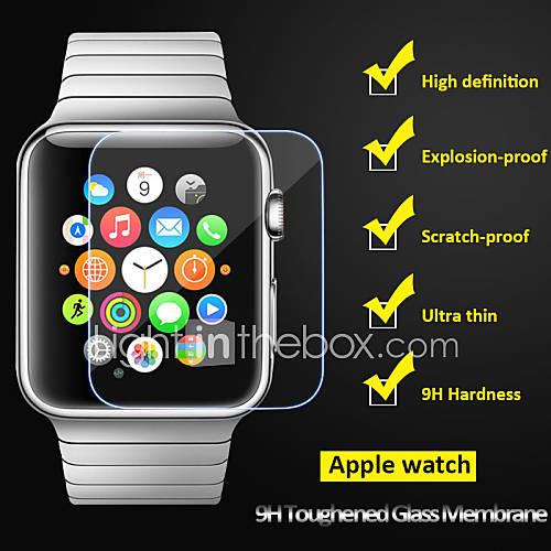 beittal 0,26 mm borde redondeado 9h cristal transparente endurecido protector de pantalla para el reloj de manzana (38 de 42 mm) Miniinthebox por 7.83€