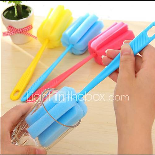 Home Cleaning Tool Sponge Brush For Wineglass Bottle Coffe Tea Glass Cup Kitchen Random Color