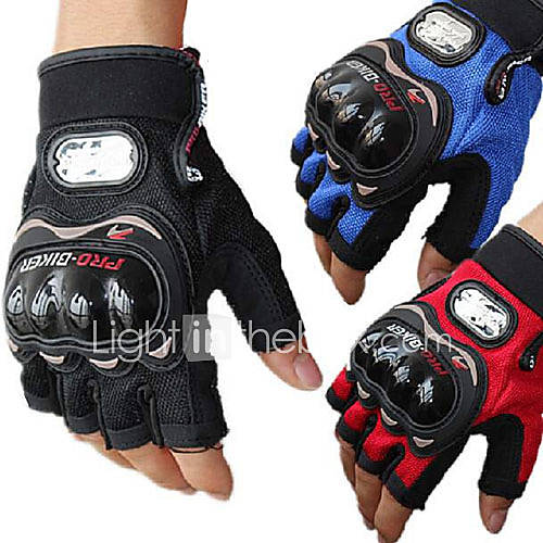 PRO-BIKER MCS-04C Motorcycle Racing Half-Finger Protective Gloves