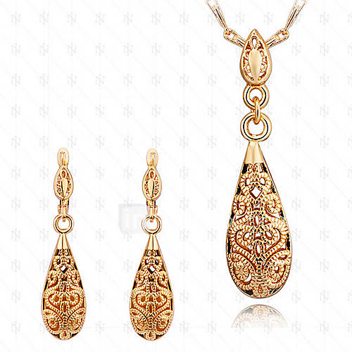 Women's Jewelry Set Brass Gold Plated 18K Gold Drop Vintage Cute Party Work Fashion Party Special Occasion Anniversary Birthday Gift