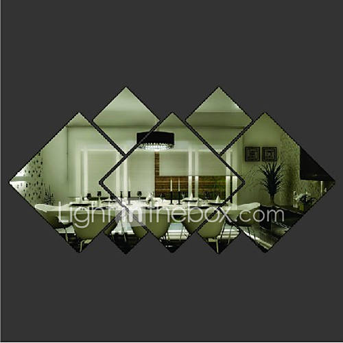 Shapes Wall Stickers Mirror Wall Stickers Decorative Wall Stickers Vinyl Home Decoration Wall Decal Wall Decoration