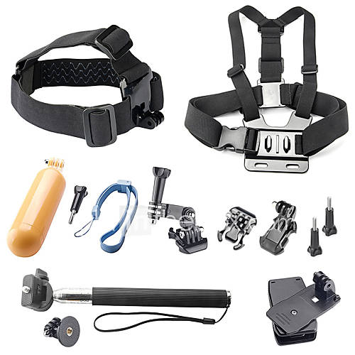 Gopro Accessories Mount/Holder / Monopod / Straps / Screw / Buoy / Suction Cup / Hand Grips/Finger Grooves / Accessory Kit / ClipFor-