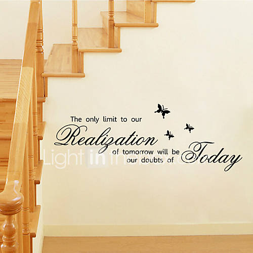 Wall Stickers Wall Decals Style The Only Limit English Words  Quotes PVC Wall Stickers