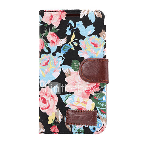 Case For HTC Card Holder Wallet with Stand Flip Full Body Cases Flower Hard PU Leather for HTC One M9 HTC One M8