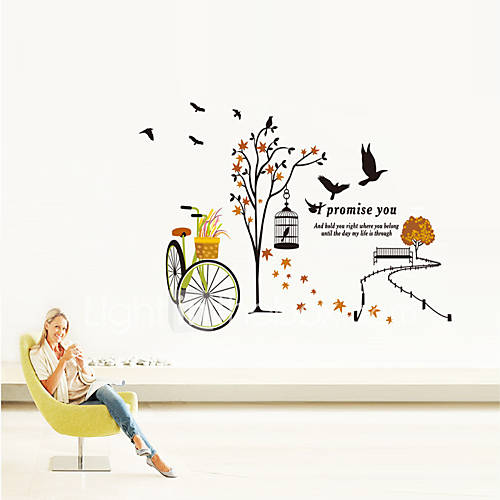Wall Stickers Wall Decals Style Spring Tour PVC Wall Stickers