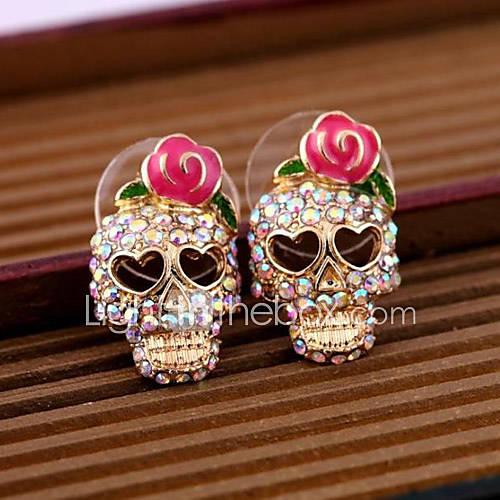 Pendiente Forma de Cráneo Pendientes cortos Joyas 2 piezas Diario / Casual Legierung Mujer Dorado Descuento en Miniinthebox