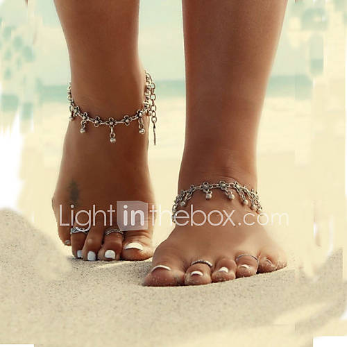 Drop / Flower Anklet / Barefoot Sandals - Women's Silver Unique Design / Tassel / Vintage Jewelry Body Jewelry For Daily / Casual / Beach