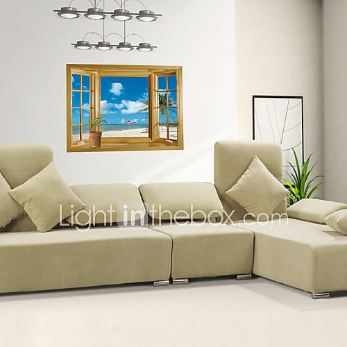 3D Wall Stickers Wall Decals Style Window PVC Wall Stickers