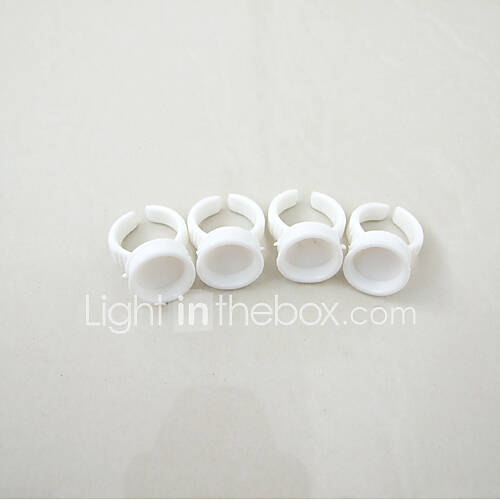 Disposable Ink Cup Ring Holders White Supply For Permanent Tattoo Makeup Eyebrow Lips 100pcs/Lot