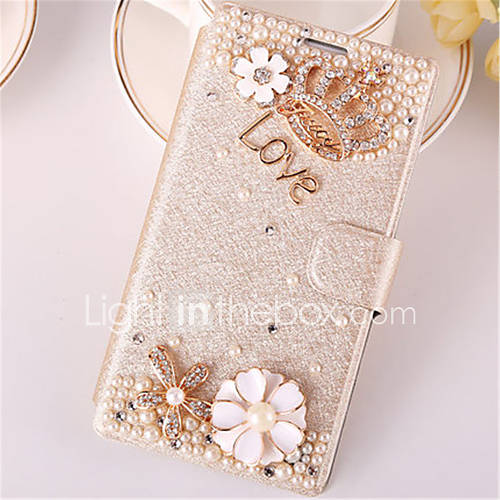 Case For Samsung Galaxy Samsung Galaxy Case Card Holder Rhinestone with Stand Flip Full Body Cases 3D Cartoon PU Leather for Trend Duos