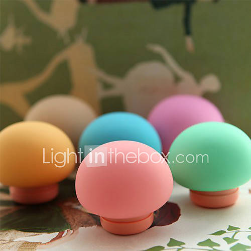 Mushroom Shaped Earphone Storage Case with USB Charger (Random Color)