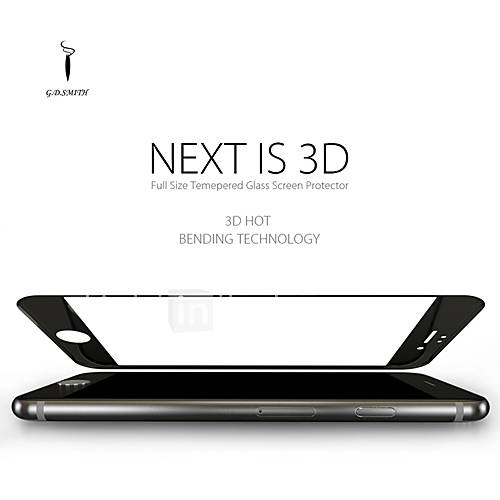 Godosmith Full Cover 3D Tempered Glass Screen Protector for Apple iPhone 6S/6