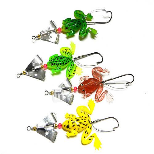 4pcs Fishing Bait Soft Lures (Random Color)