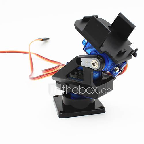 2 ejes cabeza de la cámara FPV cuna w / 9g servo dual / aparato de gobierno para el robot / r / c coche - negro  azul Descuento en Miniinthebox