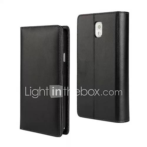 Case For Samsung Galaxy Samsung Galaxy Note Wallet Full Body Cases Solid Color PU Leather for Note 3