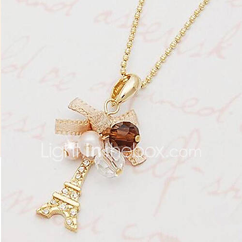 Necklace Pendant Necklaces / Pearl Necklace Jewelry Daily / Casual Pearl / Alloy / Imitation Pearl / Rhinestone Gold 1pc Gift