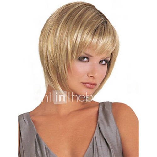 Synthetic Wig Straight Bob Haircut With Bangs Women's Capless Natural Wigs Short Long Synthetic Hair