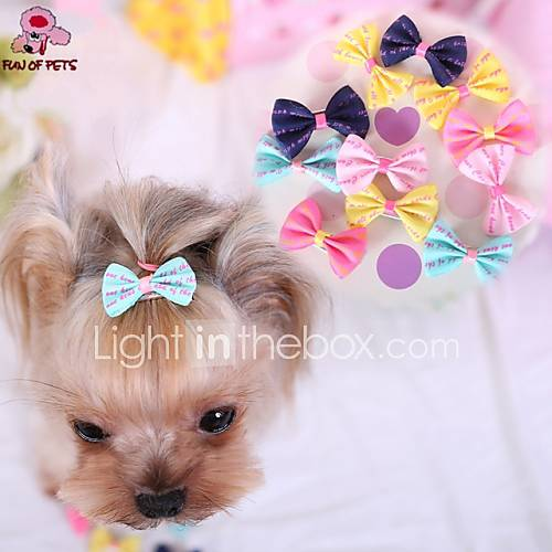 Cat Dog Hair Accessories Hair Bow Dog Clothes Dark Blue Yellow Rose Blue Pink Mixed Material Costume For Pets Cosplay Wedding