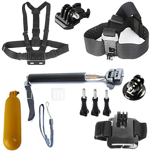 Gopro Accessories Mount/Holder / Straps / Gopro Case/Bags / Screw / Suction Cup / Hand Grips/Finger Grooves / Accessory KitFor-Action