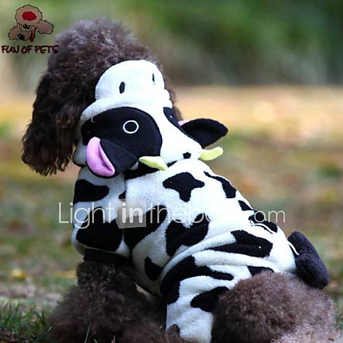 Cat Dog Costume Hoodie Clothes/Jumpsuit Black White Dog Clothes Winter Spring/Fall Animal Cute Cosplay