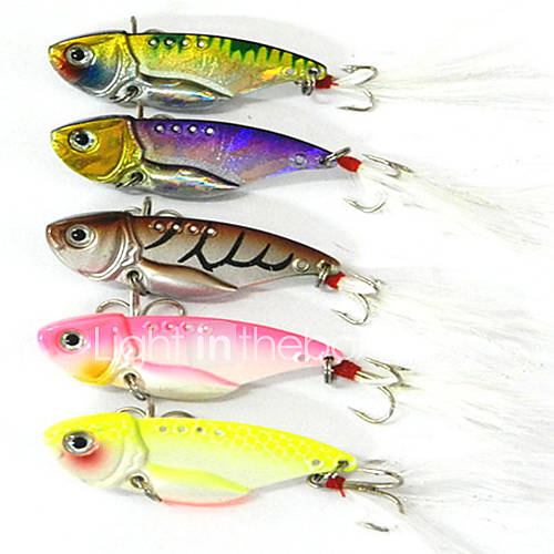 Hengjia Metal Bait/VIB 11g/pc 5pcs  55mm Lure Fishing