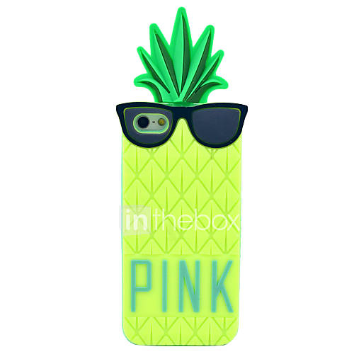 Wear Glasses Pineapple Pattern Silicone Soft Case for iPhone 5/5S