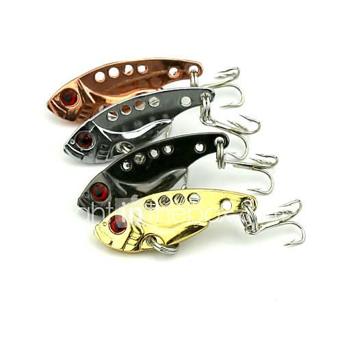 4pcs Hengjia Metal VIB Baits/Vibration  3.2g   35mm Lures Fishing