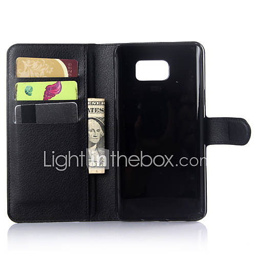 Luxury Genuine Leather Wallet Case for Samsung Galaxy Note 5/Note 4/Note 3/Note Edge