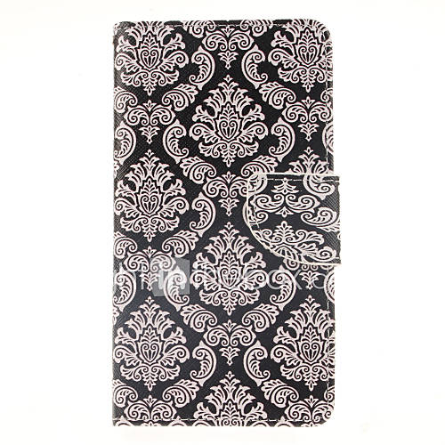For Samsung Galaxy Note Card Holder / Wallet / with Stand / Flip Case Full Body Case Flower PU Leather Samsung Note 4