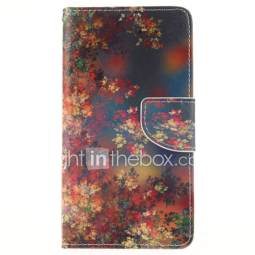 For Samsung Galaxy Note Wallet / Card Holder / with Stand / Flip Case Full Body Case Flower PU Leather Samsung Note 4
