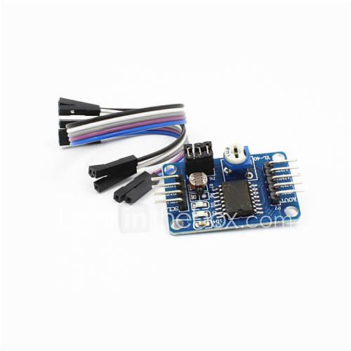 PCF8591 AD / DA / analógico a digital / de digital a analógico módulo convertidor w cable / dupont - azul profundo Descuento en Miniinthebox
