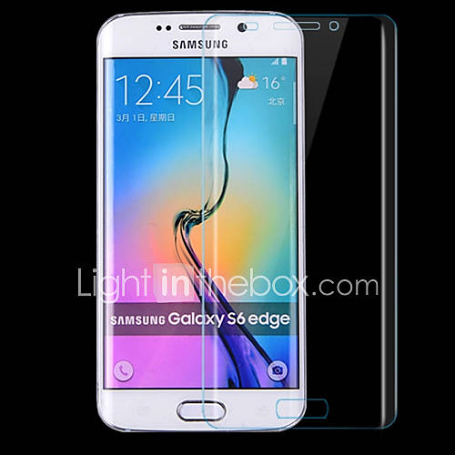 Scratch-Proof Transparent Sphere Full Coverage of HD Fingerprint-Proof Steel Soft Glass Film for Samsung Galaxy S6 edge