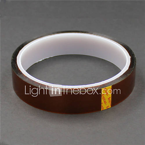 High Temperature Resistant Kapton Polyimide Tape - Tan (18mm x 30m)